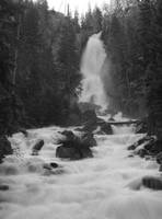 Steamboat Springs Waterfall- Black & White