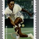 """Althea Gibson Postage Stamp"" by WilshireImages"