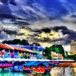 """Urban Landscape Singapore - Clarke Quay"" by sghomedeco"