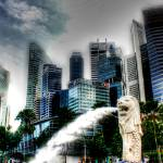 """City and Merlion - Cityscape Singapore 2013"" by sghomedeco"
