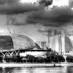 """Architecture -Esplanade Theatre Singapore B/W"" by sghomedeco"
