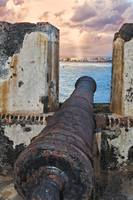 Old Cannon Overlooking San Juan Bay, Puerto Rico