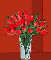 21 Tulips red a