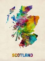 Scotland Watercolor Map