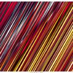 """Striped Line Rain of Reds and Yellows"" by LeahMcNeir"