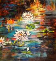 Monet's Pond with Lotus