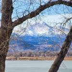 """View Through The Trees To Longs Peak"" by lightningman"