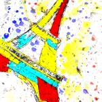 """Eiffel Tower Abstract"" by brianraggatt"