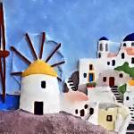 """Greek island windmills"" by brianraggatt"