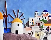 Greek island windmills