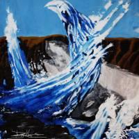Blue Phoenix at Sunset Art Prints & Posters by Daniel Mascari