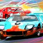 """FORD GT 40 LEADS THE PACK"" by DavidLloydGlover"