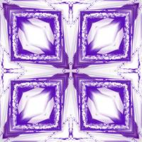 Purple and White Diamond Abstract II