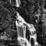 """Whitewater Falls - Black and White"" by mindseyecreative"