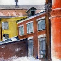 winter in the city Art Prints & Posters by Lelia Sorokina