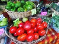 Tomatoes, String Beans and Peppers at Farmer's Mar