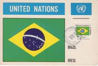 Maximum card El Salvador;Brazil flag stamp