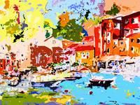 Abstract Portofino in Summer by Ginette
