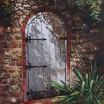 """painting_decorative_door_at_pecorama_gardens"" by martindavey"