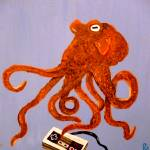 """Octopus With a Nintendo Controller"" by Polylerus"