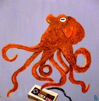 Octopus With a Nintendo Controller