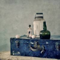 the blue suitcase