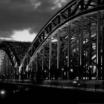 """Hohenzollern Bridge, Cologne, Germany, B&W"" by IK_Stores"