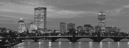 Longfellow Bridge, Boston, B&W