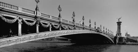 Pont Alexandre III Bridge, Paris, France, B&W