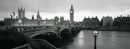 Westminster Bridge, London, B&W