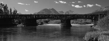 Bridge at Glacier National Park, Montana, B&W