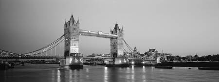 Tower Bridge, London, B&W
