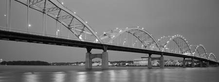 Centennial Bridge, Iowa, B&W