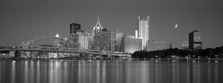 Fort Duquesne Bridge, Pittsburgh, B&W