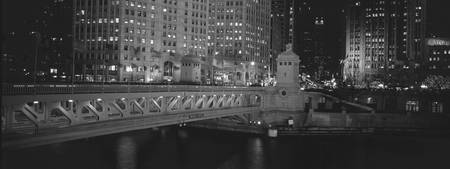 DuSable Bridge, Chicago, B&W
