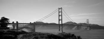 Golden Gate Bridge, San Francisco, B&W