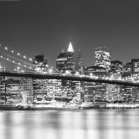 """Brooklyn Bridge, New York, B;W"" by IK_Stores"