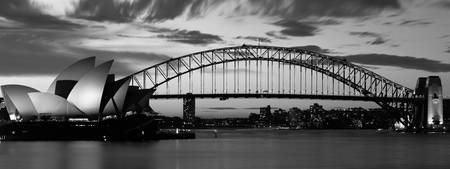 Opera House Bridge, Sydney, Australia, B&W