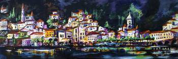 Cityscape Amalfi at Night Italy