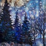 """Snowy Trees"" by barefootandupsidedown"