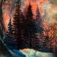 Midnight Sun, through the eye of the bear Art Prints & Posters by carolyn grady