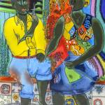 """After the work, Afro-American couple enjoying the"" by gheider"