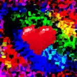 """Big Hearted Valentine Abstract II"" by TheNorthernTerritory"