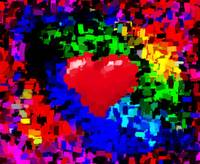 BIG HEARTED VALENTINE ABSTRACT II+SIG C
