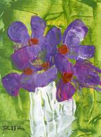 Alan Riik Purple Flowers Painting