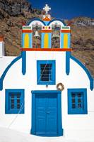 Colorful Chapel in Thirasia