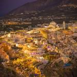 """Fira, Santorini at Night"" by bkindler"