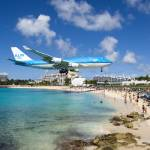 """KLM Boeing 747 landing at St. Maarten"" by jcarillet"