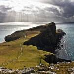 """Sunbeams over Neist point."" by Skyepix"