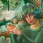 """Coffee in the Green Room: Ode to Lempicka"" by AlmaLee"
